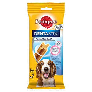 Pedigree DentaStix Daily Dental Chew for Large Dogs 25 kg+ 7 Sticks, 270 g (Pack of 10)