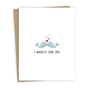 Whaley Love Card (blue)