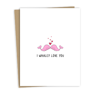 Whaley Love Card (pink)