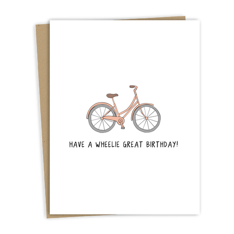 A Wheelie Great Birthday Card
