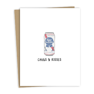 Chugs & Kisses Card
