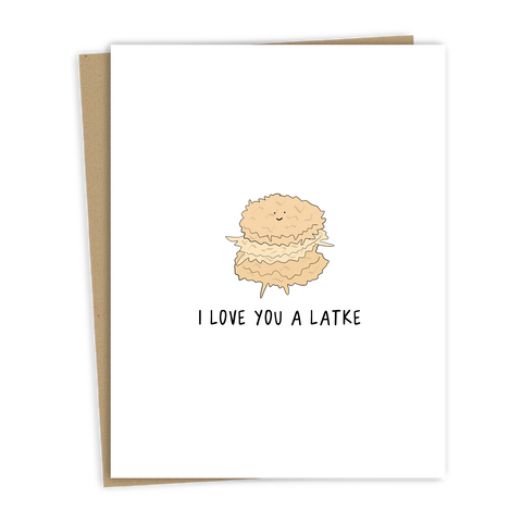 Love You A Latke Card