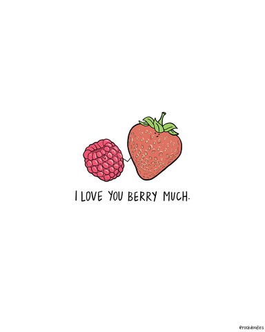 Berry Much Print