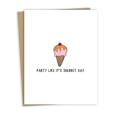 Sherbet Day Card