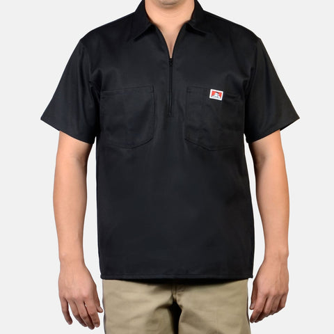 Short Sleeve Solid 1/2 Zip - basicsclothing