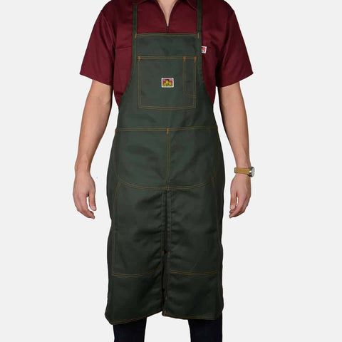 Worker's Utility Olive Teamster's Apron - One Size - basicsclothing