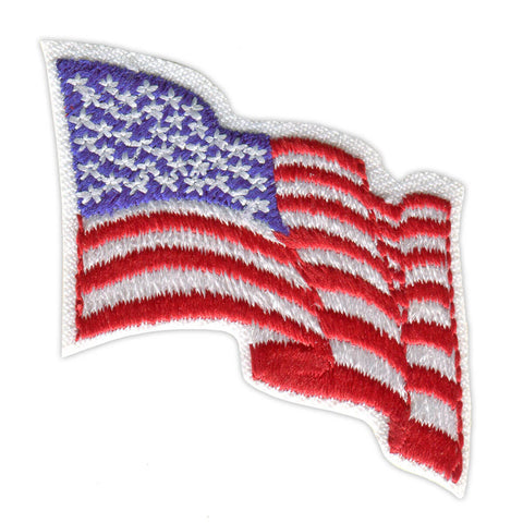 Girl Scouts Wavy American Flag Patch - basicsclothing