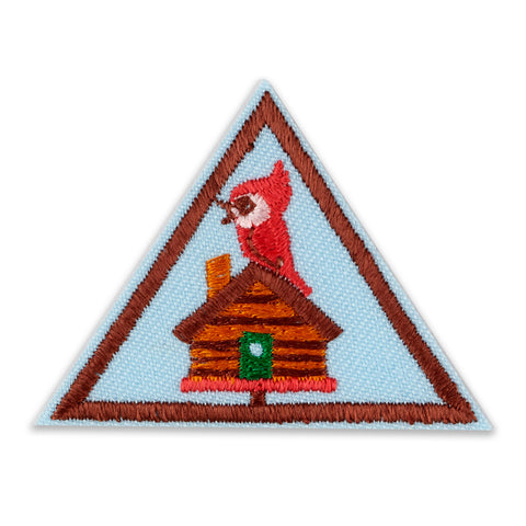 Girl Scouts Brownie Cabin Camper Badge - basicsclothing
