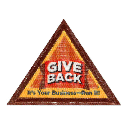 Girl Scouts Brownie Give Back Badge