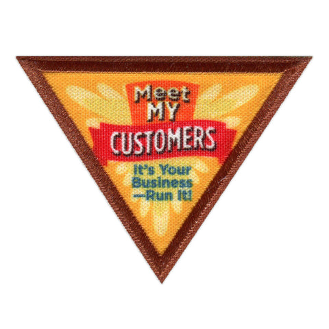Girl Scouts Brownie Meet My Customers Badge - basicsclothing