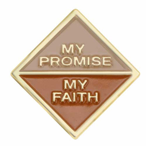 Girl Scouts Brownie My Promise, My Faith Pin - Year 1