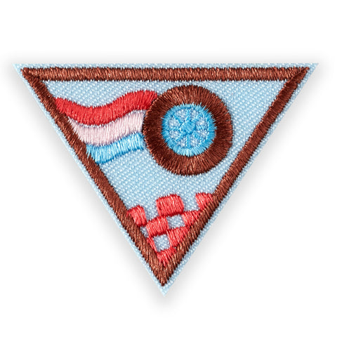 Girl Scouts Brownie Race Car Design Challenge Badge - basicsclothing