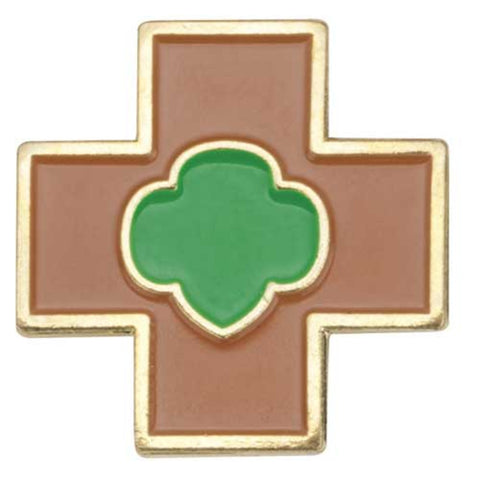Girl Scouts Brownie Safety Award Pin - basicsclothing