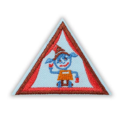 Girl Scouts Brownie Showcasing Robots Badge - basicsclothing