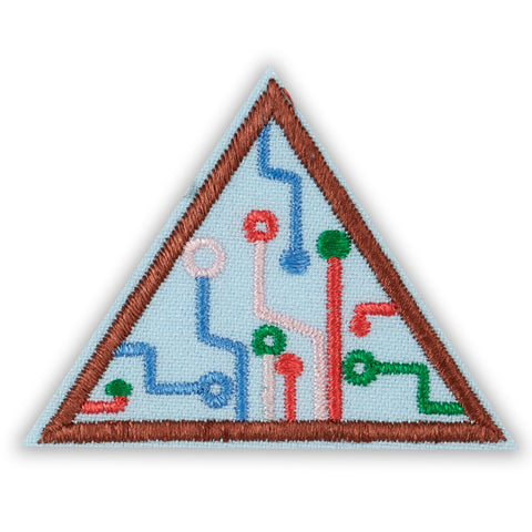 Girl Scouts Brownie Think Like A Programmer Award Badge - basicsclothing