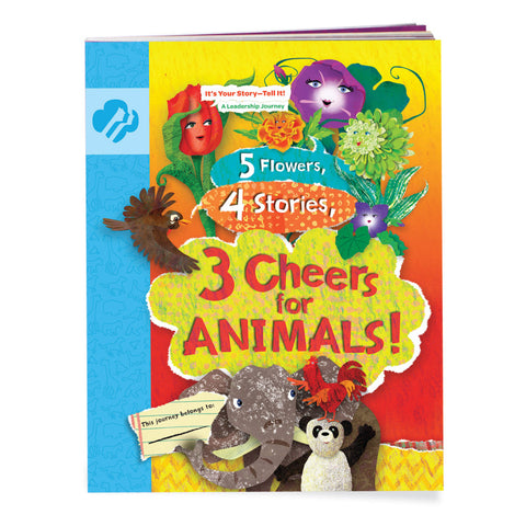 Girl Scouts Daisy 5 Flowers, 4 Stories, 3 Cheers For Animals! Journey Book - Basics Clothing Store