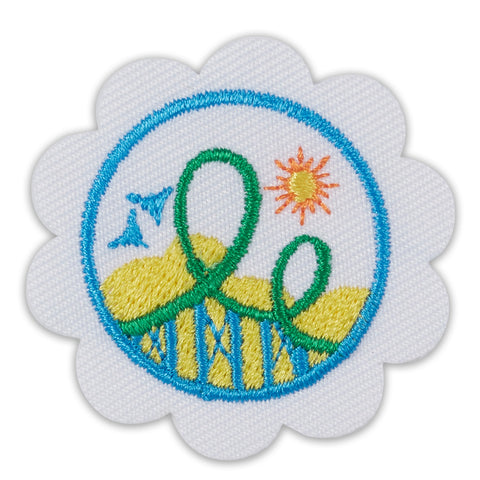 Girl Scouts Daisy Roller Coaster Design Challenge Badge - basicsclothing
