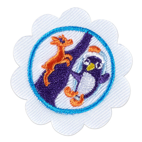 Girl Scouts Daisy Snow or Climbing Adventure Badge