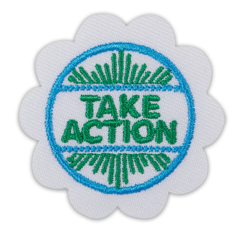 Girl Scouts Daisy Take Action Award Badge - basicsclothing