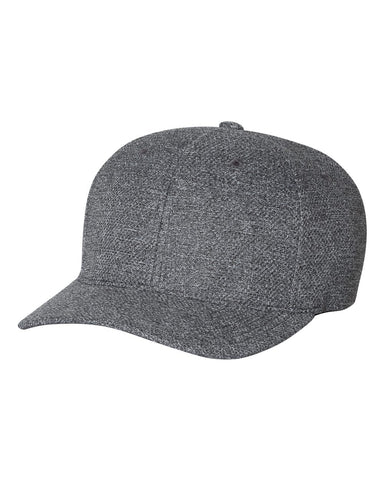 Fitted Mélange Cap Hat - 6355 - basicsclothing