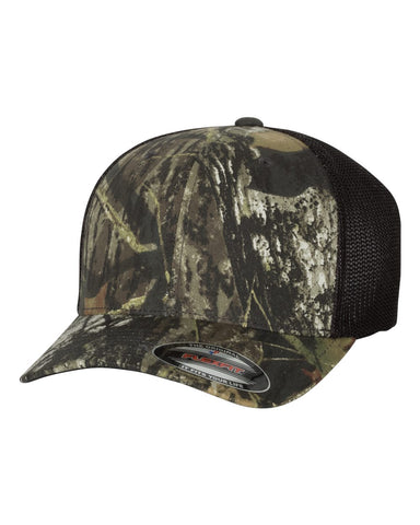 Mossy Oak Stretch Mesh-Back Cap - 6911 - basicsclothing
