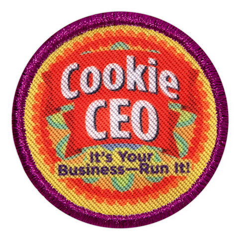 Girl Scouts Junior Cookie CEO Badge - basicsclothing