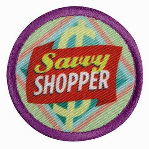 Girl Scouts Junior Savvy Shopper Badge - basicsclothing