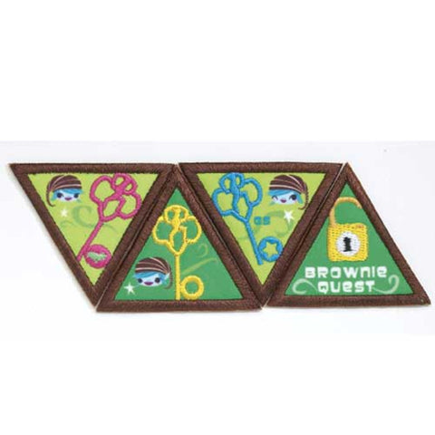 Girl Scouts Quest Brownie Journey Award Set - basicsclothing