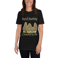 Morel Hunting Champion Short-Sleeve Unisex T-Shirt