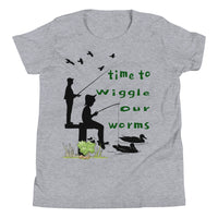 Time To Wiggle Our Worms Funny Youth Short Sleeve T-Shirt