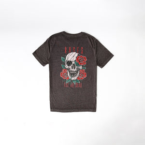 ROSES FOR THE DEAD -  ACID WASH - TEE - CHARCOAL