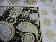 Back Gold Paisley