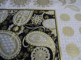 Back Gold Paisley - Nana's Weighted Blankets
