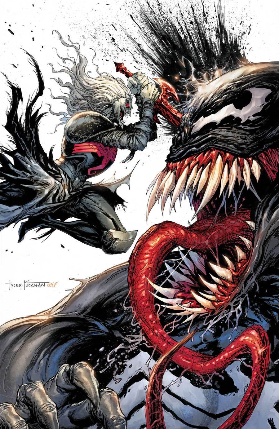 VENOM #28 TYLER KIRKHAM Exclusive SECRET Virgin Variant