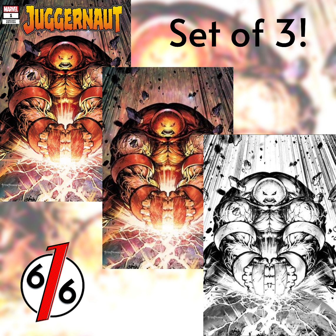 JUGGERNAUT #1 TYLER KIRKHAM SET OF 3 Exclusive Variant Ltd 1000