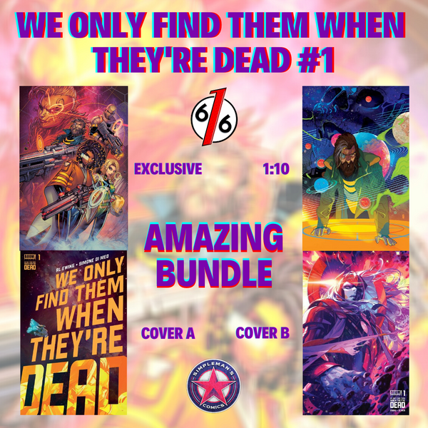 WE ONLY FIND THEM WHEN THEY'RE DEAD #1 JONBOY MEYERS Amazing Bundle Of 4 Covers