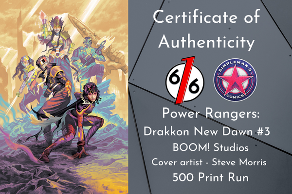 POWER RANGERS DRAKKON NEW DAWN #3 STEVE MORRIS Exclusive Variant Ltd 500 COA