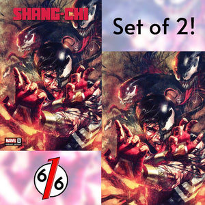 SHANG-CHI #1 MARCO MASTRAZZO SET OF 2 Exclusive Variants Trade & Virgin