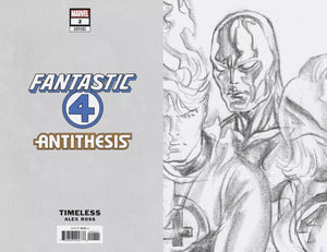 FANTASTIC FOUR ANTITHESIS #2 ALEX ROSS 1:100 Ratio Virgin Sketch Variant