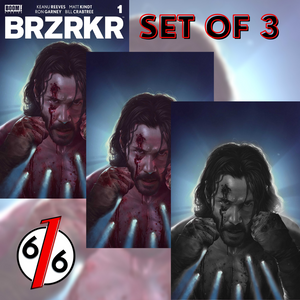 BRZRKR #1 RAHZZAH 616 Exclusive Cover A Bullet-Hole Variant SET OF 3 LTD 200 COA