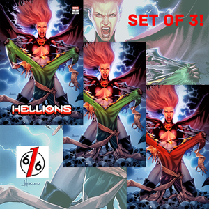HELLIONS #3 JAY ANACLETO Exclusive Variant Set of 3 Goblin Queen
