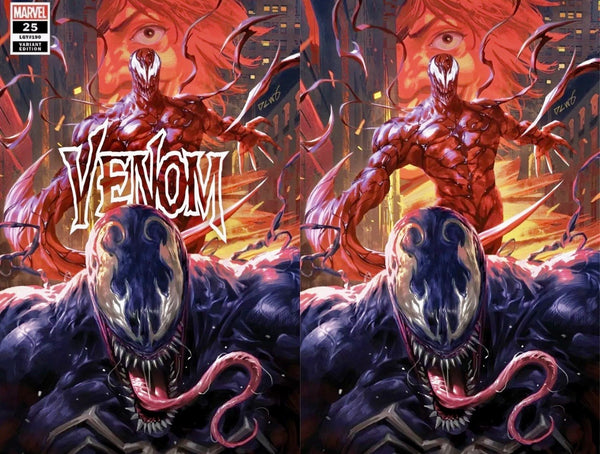 VENOM #25 DERRICK CHEW Trade and Virgin Variant Set Of 2 Ltd 1000