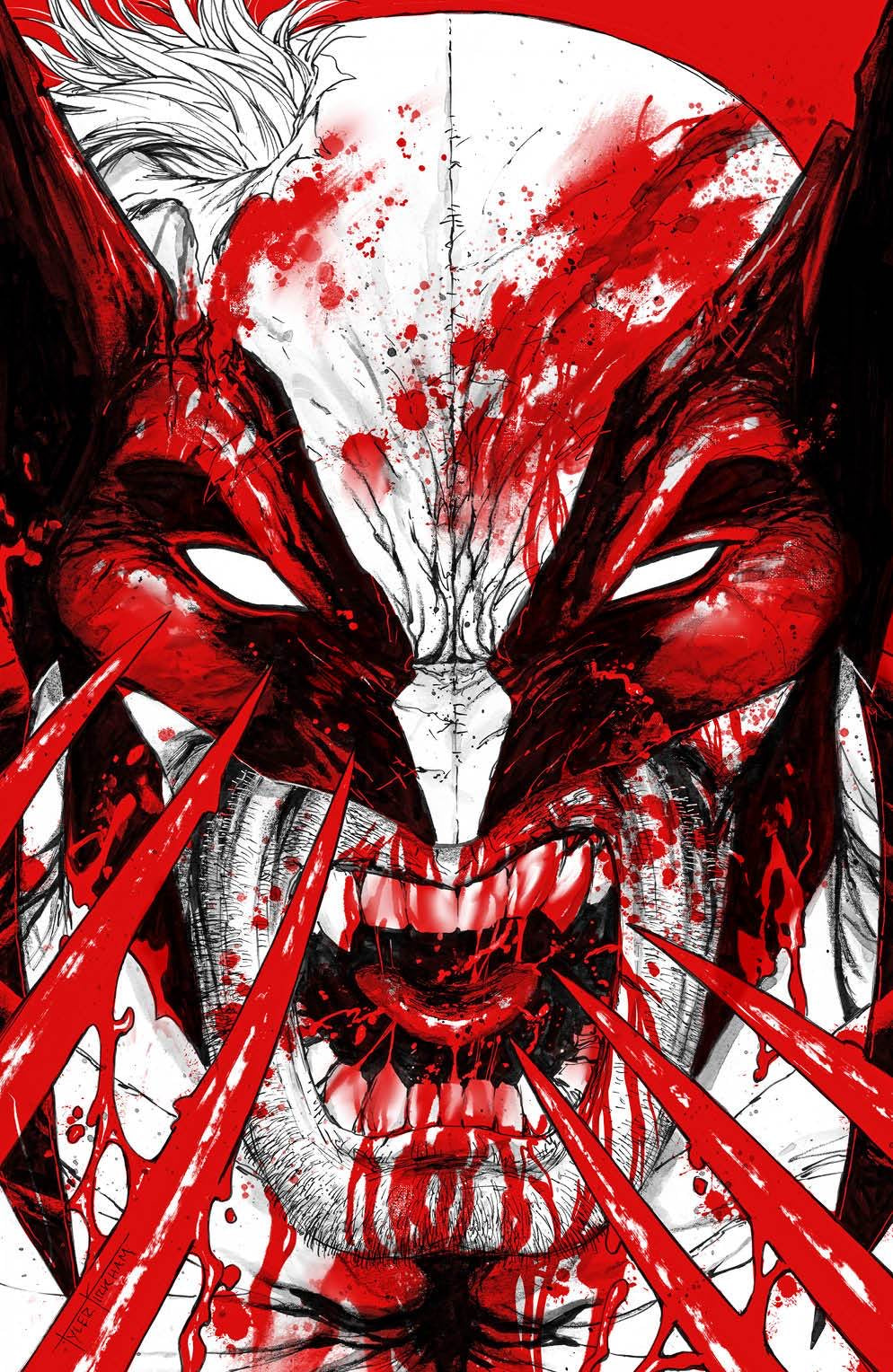 WOLVERINE BLACK WHITE & BLOOD #1 TYLER KIRKHAM Exclusive Virgin Variant