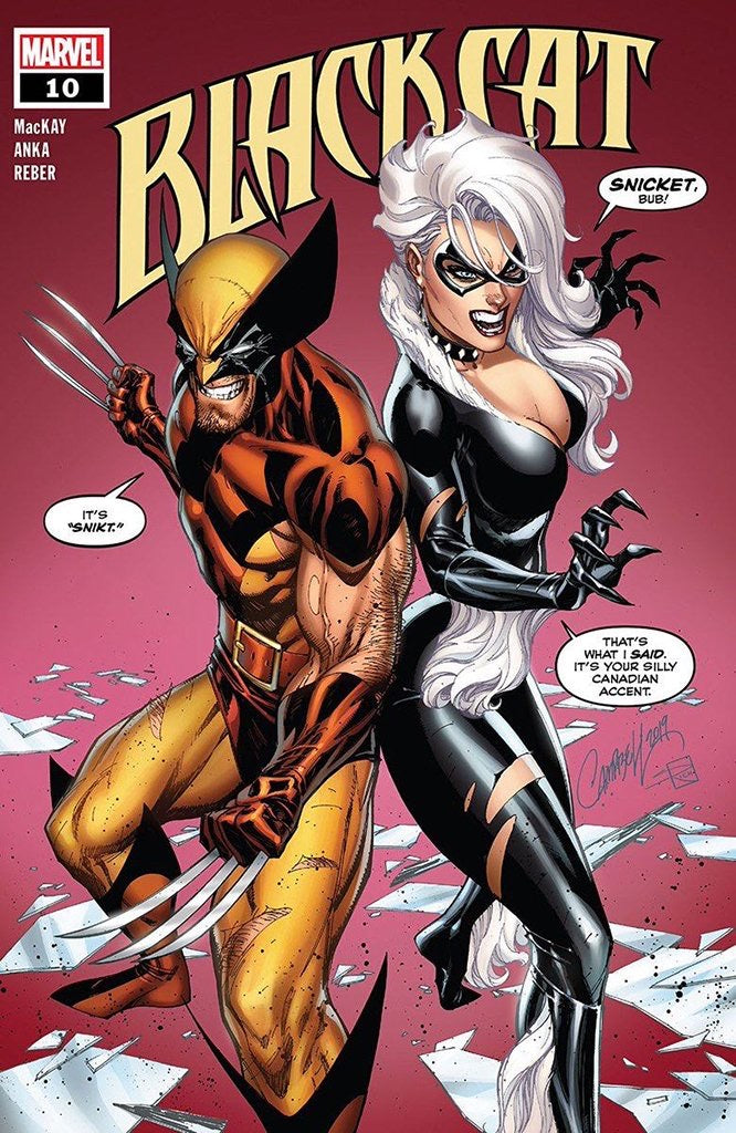 Black Cat #10 J Scott Campbell Signed Exclusive