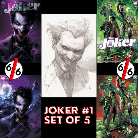 JOKER #1 MATTINA & JONBOY MEYERS VARIANT SET OF 5 With 1:25 Federici