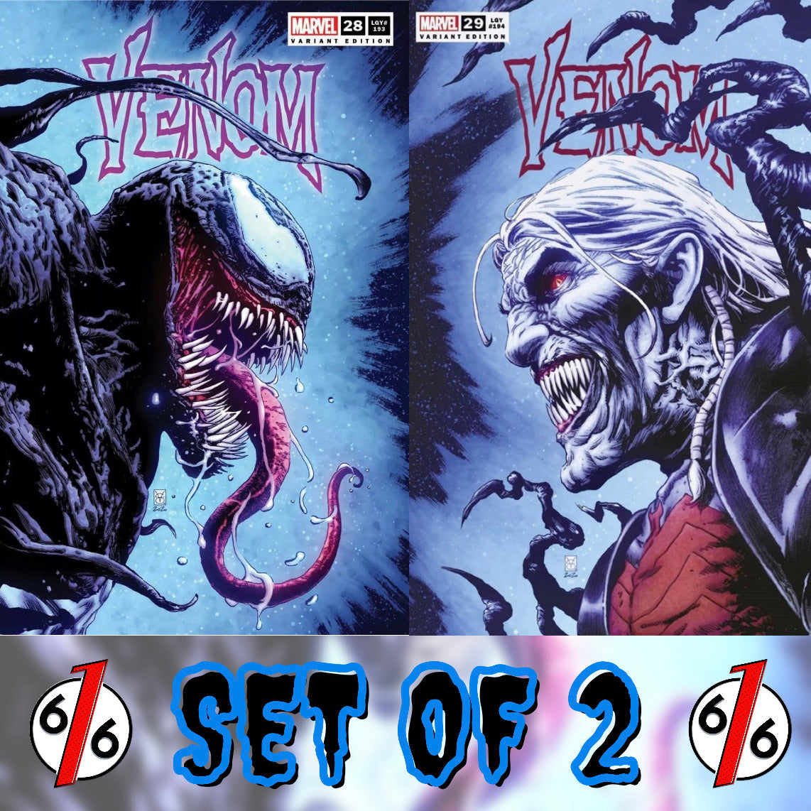 VENOM #28 & 29 VALERIO GIANGIORDANO SET OF 2 Trade Dress Variants