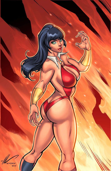 VAMPIRELLA #16 SET OF 2 SMOKE & FIRE Royle & Garza Virgin Variants COA
