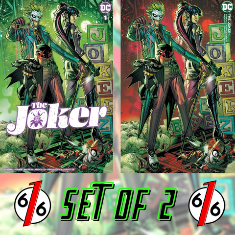 JOKER #1 JONBOY MEYERS VARIANT SET OF 2 Trade Dress & Minimal LTD 1500
