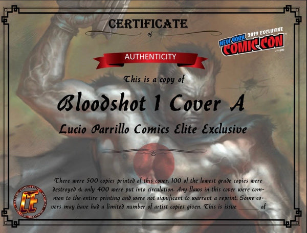 BLOODSHOT #1 LUCIO PARRILLO NYCC Exclusive Cover A Ltd To 400 COA