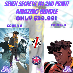 SEVEN SECRETS #1 SECOND PRINT AMAZING BUNDLE SET OF 2 Exclusive Virgin Variants Ltd 500 Ultimate Fallout #4 Homage